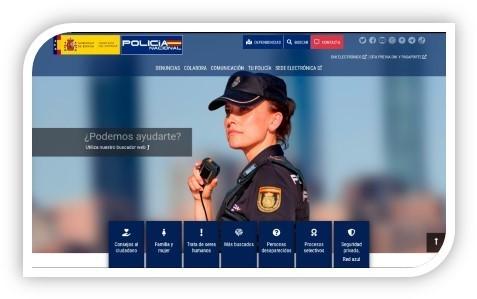 NUEVA PAGINA WEB DEL CUERPO NACIONAL DE POLICIA.
